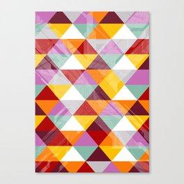 Triagles warm Canvas Print