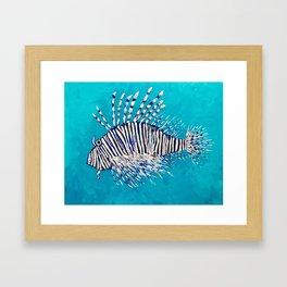 Lion Fish 3, a pretty predator & invasive species Framed Art Print