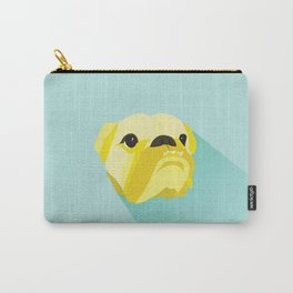 Flat Vector Bulldog Carry-All Pouch