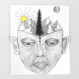 Free Your Mind Throw Blanket