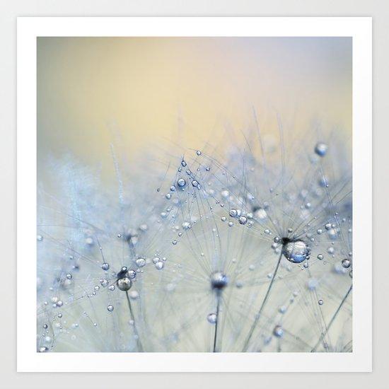 ice blue dandelion Art Print