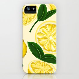 yellow lemons iPhone Case