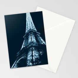 Eiffel Tower, blue Stationery Cards