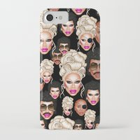 rupaul iPhone & iPod Cases featuring RuPaul Blonde  by dannydax