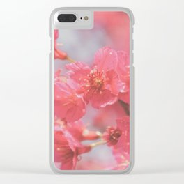 Plum Blossom 4 Clear iPhone Case