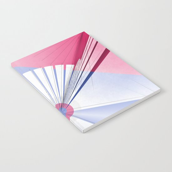 Pattern colors 2016 rose quarz and serenity blue Version 5 Notebook