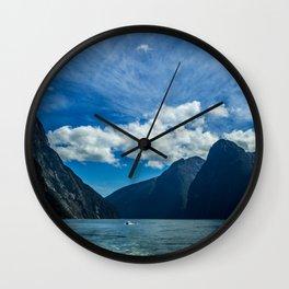 Milford Sound, New Zealand Wall Clock