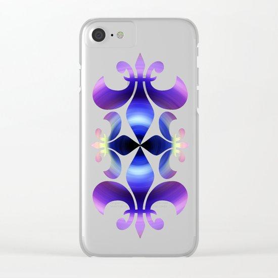 Ultraviolet Swirl Clear iPhone Case