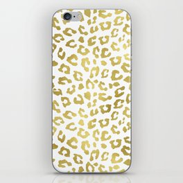 Glam Gold Cheetah Animal Print iPhone Skin