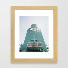 Grain Elevators Framed Art Print