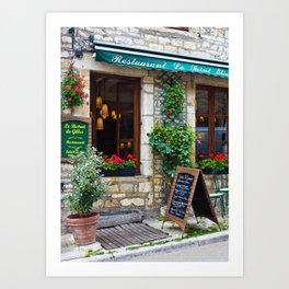restaurant in france Art Print