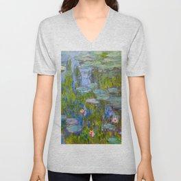 Claude Monet ''Water Lilies'' Unisex V-Neck