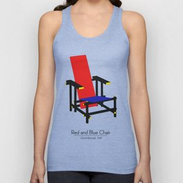 Red and Blue chair - Rood Blauwe stoel - Gerrit Rietveld Unisex Tank Top