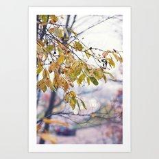 Happy Autumn Colours Art Print