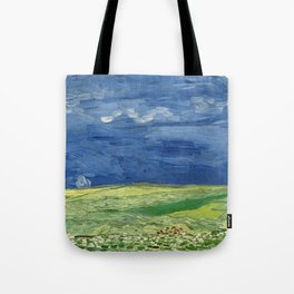 Vincent van Gogh - Wheatfield Under Thunderclouds Tote Bag