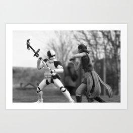 Let's fight! Art Print