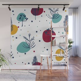Simple Trees Midcentury Pattern #society6 #buyart Wall Mural