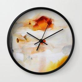 Orange gold painting print Wall Clock