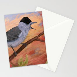 Blackcap in spring Stationery Cards