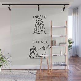 Inhale Exhale Shih Tzu Wall Mural
