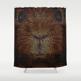 Hilary the Guinea Pig Shower Curtain