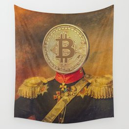 "Bit Coin Fanatic General | ""So Let Me Tell You About My Coin Base"" Wall Tapestry"