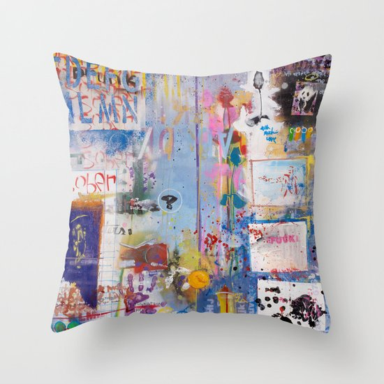 It's opener out there in the wide open air Throw Pillow
