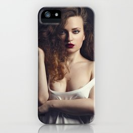 white tank top 04 iPhone Case