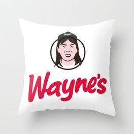 Wayne's Single #1 Throw Pillow