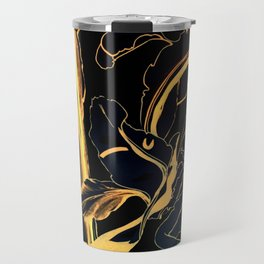 Plant in Blue Marker - Leaf of Life Miracle Leaf - Black and Gold Travel Mug