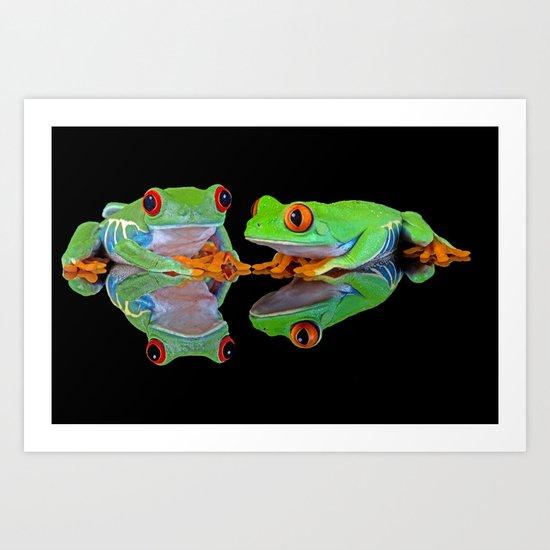 DOUBLE MIRROR FROGGINESS Art Print