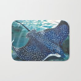 spotted eagle ray Bath Mat