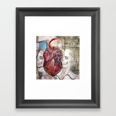 One Heart Framed Art Print