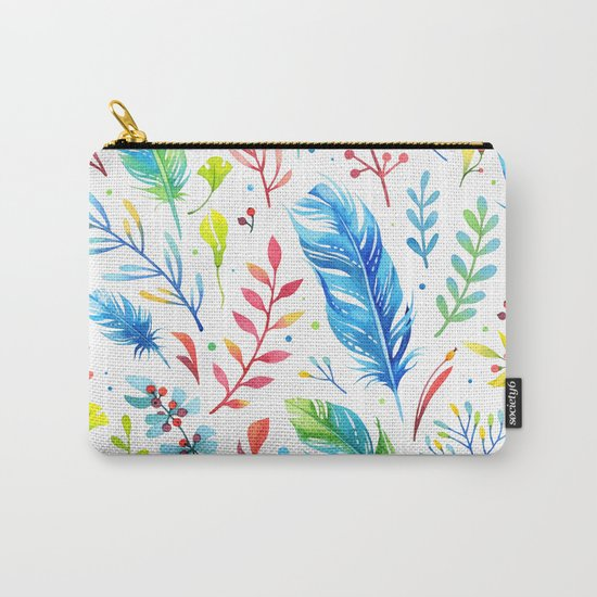 Feathers Pattern 01 Carry-All Pouch