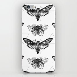 Geometric Moths iPhone Skin