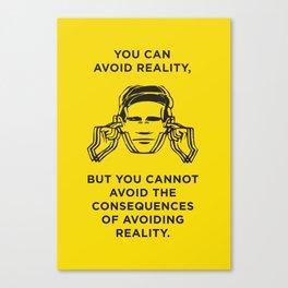 Avoiding reality Canvas Print
