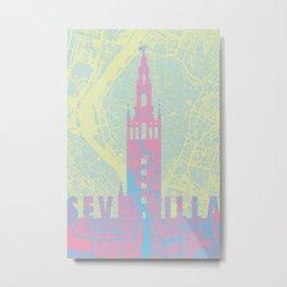 Giralda Sevilla cityscape Metal Print