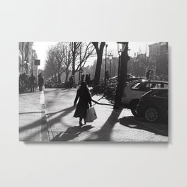 Monochrome street view Metal Print