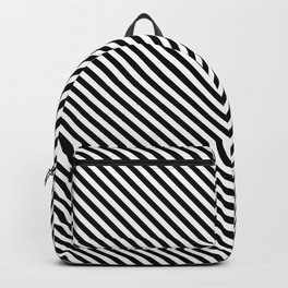 Back and White Lines Minimal Pattern Basic Backpack
