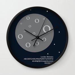 MOON - FontLove Wall Clock