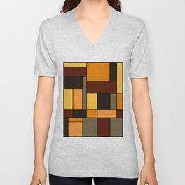 Mondrian Autumn Unisex V-Neck