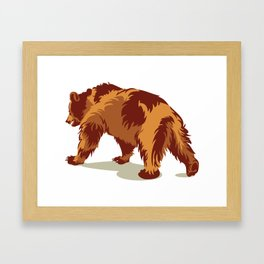 Bear walking Framed Art Print