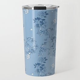 Chinoiserie in China Blue Travel Mug