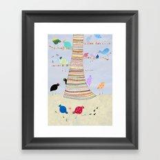 Gossiping birds Framed Art Print