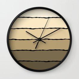 Cream and Beige Wall Clock