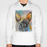 sphynx Hoodies featuring Sphynx by Michael Creese