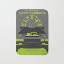 No183 My Back to the Future minimal movie poster-part III Bath Mat