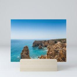 Beach at Lagoa, Algarve, Portugal II Mini Art Print