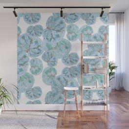 Sea Grape Tropical Leaves Wall Mural
