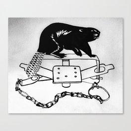 Beaver Trap Canvas Print